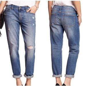 Banana Republic Distressed Girlfriend Jeans 2